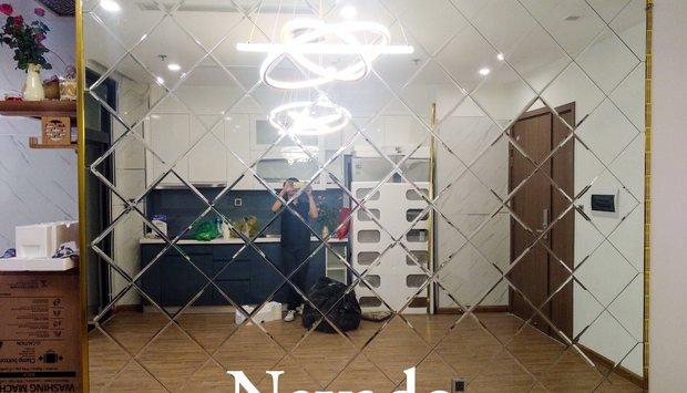 Gương ghép ô dán tường trang trí Đà Nẵng - Giải pháp độc đáo cho không gian