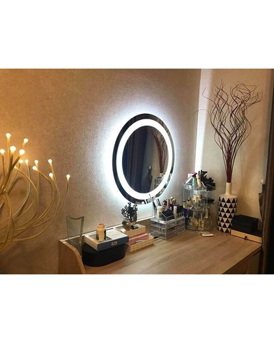 Gương tròn đèn led trang điểm 60cm
