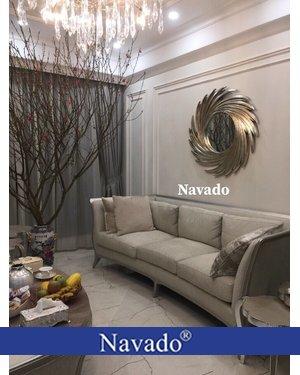 Gương treo tường nghệ thuật phòng khách Nut