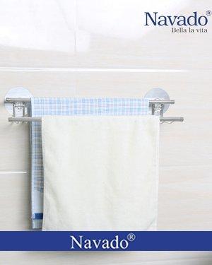 Giá đôi inox vắt khăn chân dán GS - 5001