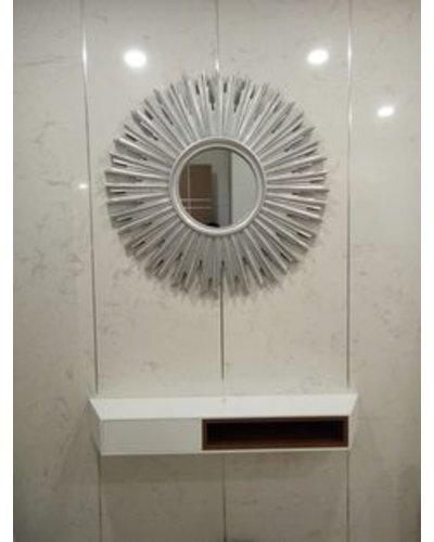 Gương nghê thuật luxury phòng khách Demeter-white ver