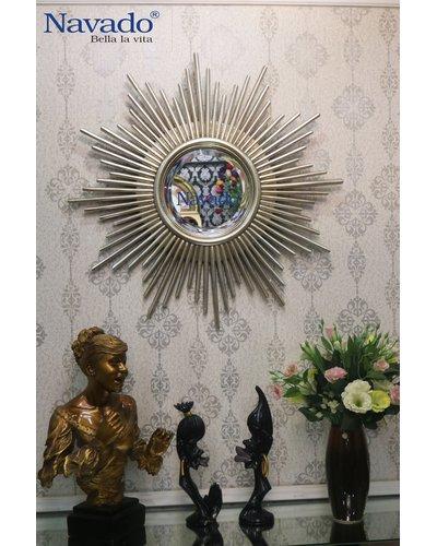 Gương trang trí nghệ thuật cao cấp Navado Aten Silver