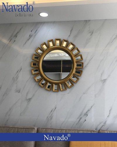 Gương treo tường tân cổ điển Sophia vàng - Navado