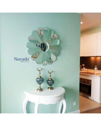Gương bỉ trang trí treo tường hoa Vila