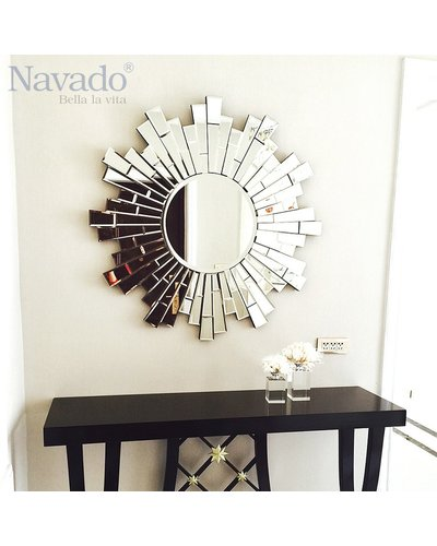 Gương bỉ trang trí treo tường Tiger Navado