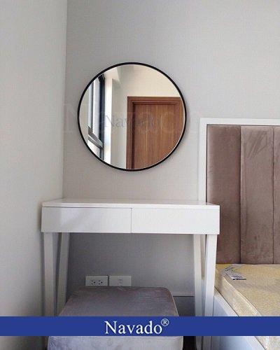 Gương tròn treo trang điểm Optima 60cm