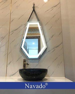 Gương treo phòng tắm Diamond led