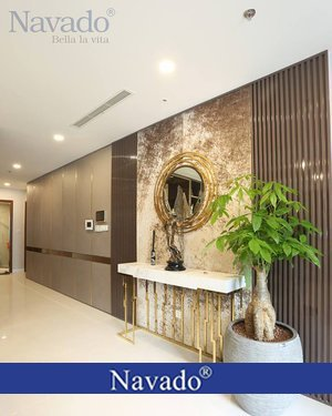 Gương trang trí viền thép phòng khách Galaxy Gold