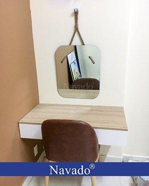 Gương bàn trang điểm decor treo dây thừng