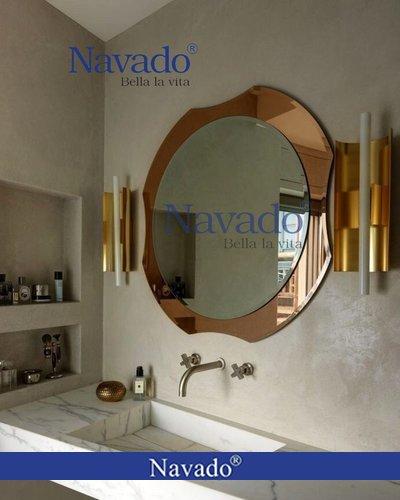 Gương Bỉ tròn viền nghệ thuật phòng tắm Đà Nẵng