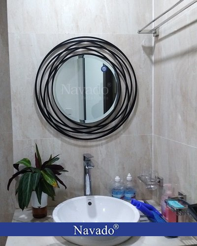 Gương bỉ phòng tắm viền thép mạ Galaxy