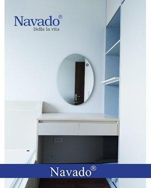 Gương Bỉ elip bàn trang điểm Navado Đà Nẵng