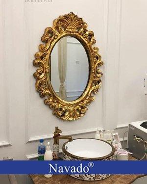 Gương bỉ trang trí nghệ thuật phòng tắm Zeus Navado
