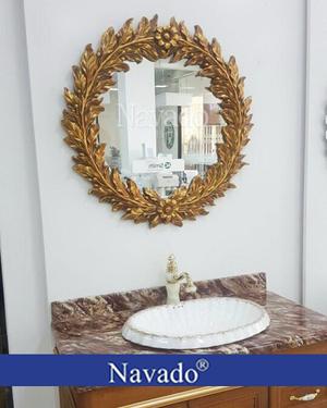 Gương trang trí tân cổ điển Nguyệt Quế phòng tắm Navado