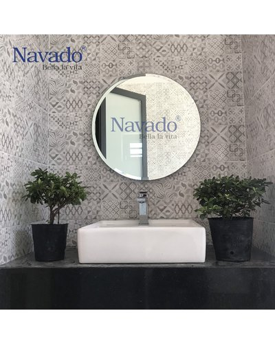 Gương tròn phòng tắm treo tường Navado