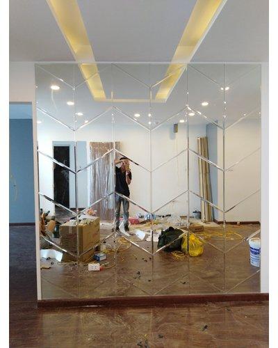 Gương Bỉ design phòng cách hình khối