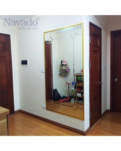 Gương Bỉ ghép ô phòng khách Navado Đà Nẵng