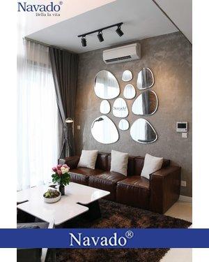 Gương bộ 10 mảnh treo tường phòng khách Navado