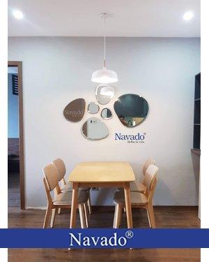 Gương bộ 6 mảnh decor phòng ăn Navado