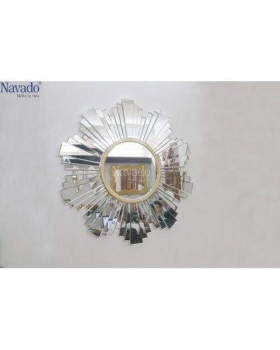 Gương decor home treo tường phòng khách Helen Navado