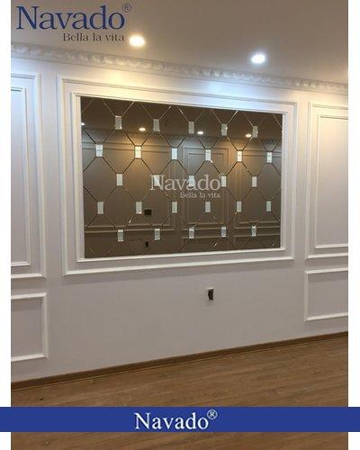 Gương Bỉ thiết kế nghệ thuật phòng khách Navado