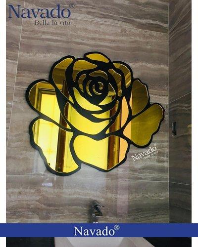 Gương bỉ nghệ thuật phòng khách Dubai