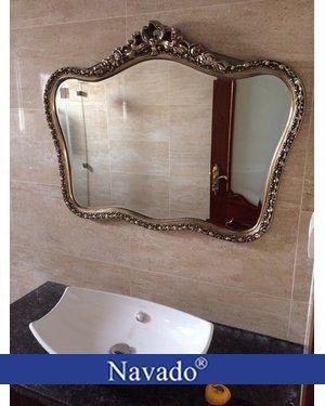 Gương phong cách tân cổ điển phòng khách Cupid