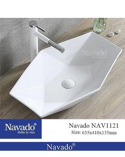 Lavabo sứ cao cấp phòng tắm Đà Nẵng NAV1121