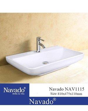 Chậu sứ nghệ thuật phòng tắm Hội An NAV1115