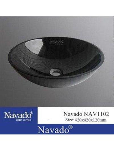 Chậu rửa sứ Lavabo màu đen Đà Nẵng NAV1102