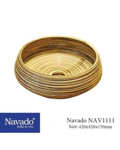Chậu sứ Lavabo cổ điển nghệ thuật Hội An NAV1111