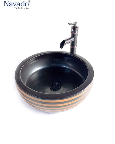 Bộ chậu vòi nghệ thuật phòng tắm Kon Tum RS113