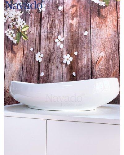 Chậu sứ trắng cao cấp phòng tắm Gia Lai RS1070