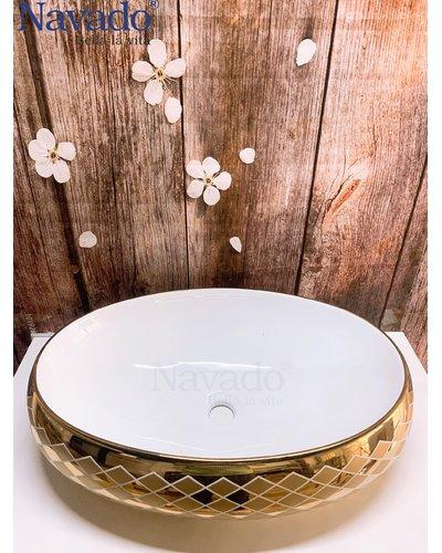 Bồn rửa mặt nghệ thuật cao cấp Bình Định G1580P