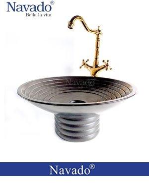 Set vòi chậu rửa sứ phòng tắm Phú Yên RS135