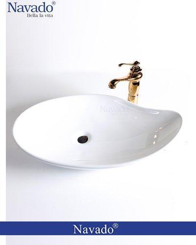 Set chậu sứ có vòi decor phòng tắm Quãng Nam RS1155