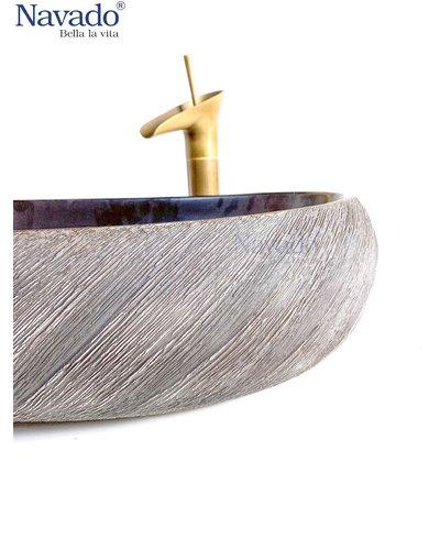 Set chậu và vòi rửa phòng tắm nghệ thuật Ninh Thuận 175