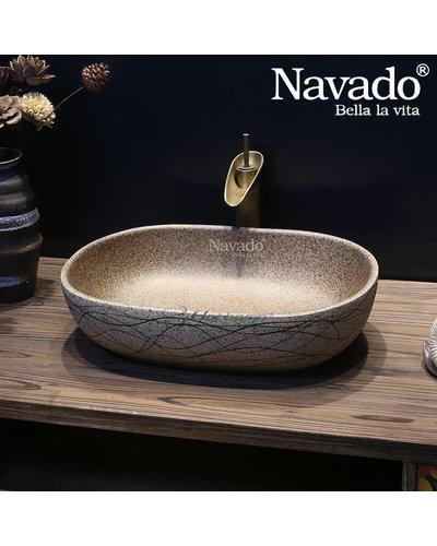 Chậu đá cuội nghệ thuật phòng tắm Đà Nẵng