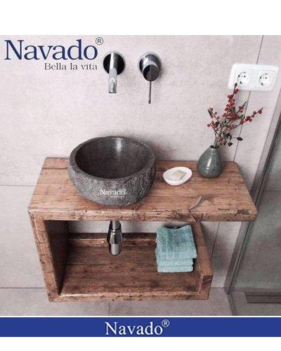 Chậu đá cuội rửa mặt spa Đà Nẵng