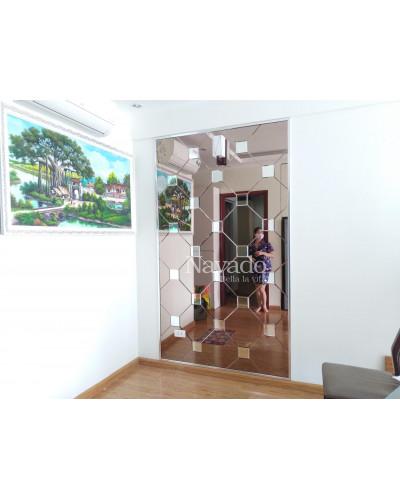 Gương ghép ô ốp tường decor nghệ thuật Khánh Hòa