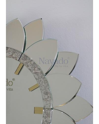 Gương đồng hồ thiết kế Sunflower