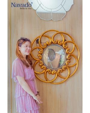 Gương decor home treo tường cho phòng khách Hebe