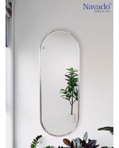 Gương toàn thân viền inox bạc Đà Nẵng