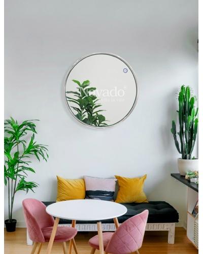 Gương khung inox tròn trang trí Đà Nẵng