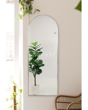 Gương inox bạc decor khung cửa sổ